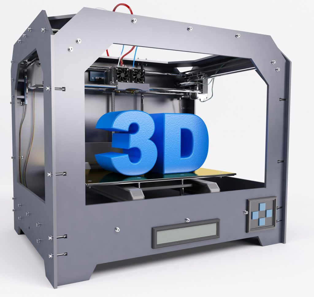 3D Render of 3 Dimensional  Printer